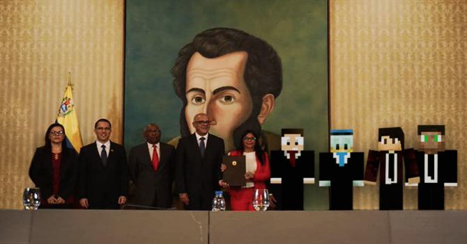 Maduro crea su oposición en Minecraft