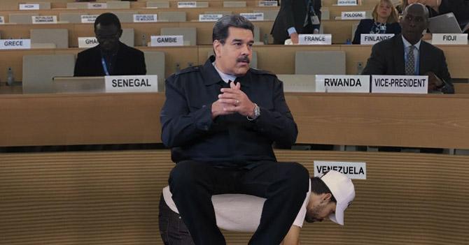 Asiento de Maduro en consejo de derechos humanos de la ONU es un opositor de rodillas