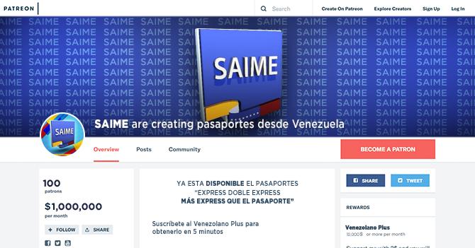 Saime ofrece pasaportes en 5 minutos solo a usuarios de Patreon