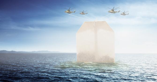Sumergen sobre gigante de tilo en el océano para intentar calmar al mundo