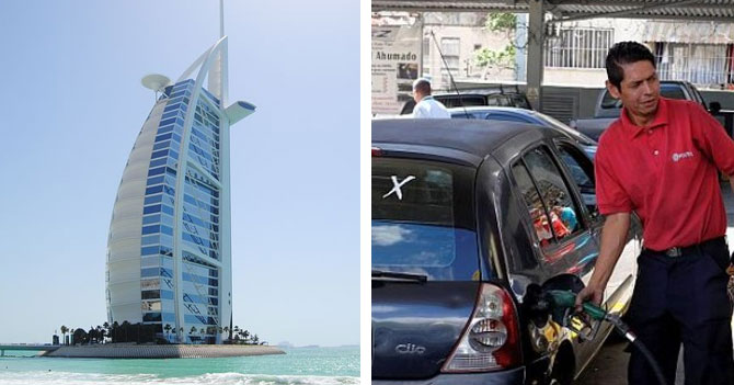 Joven dudoso entre vacacionar en Dubai o comprar gasolina sin hacer cola