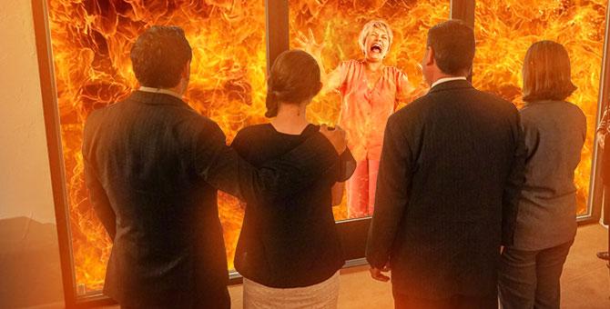 Familia se ahorra costos funerarios cremando viva a la abuela