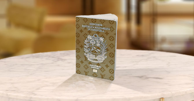 Gobierno anuncia pasaporte venezolano edición limitada Louis Vuitton