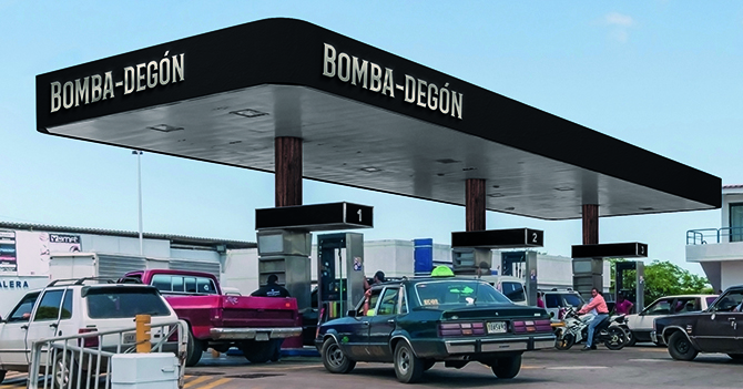 Bomba-degones comienzan a vender gasolina dolarizada