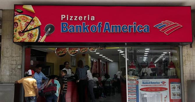 Bank of America niega que abrió pizzería en Guacara