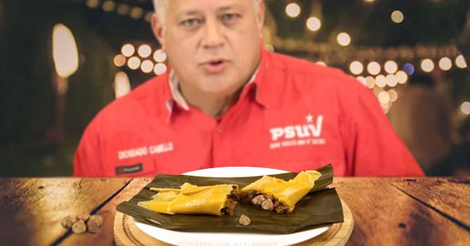 Diosdado Cabello le saca las trufas blancas italianas a su hallaca