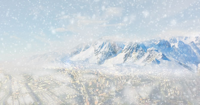 HERMOSO: Cae primera nevada de perico sobre Caracas