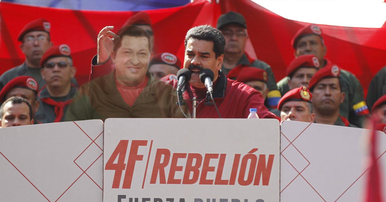 Fantasma de Chávez aparece para felicitar a Maduro por mantener su legado