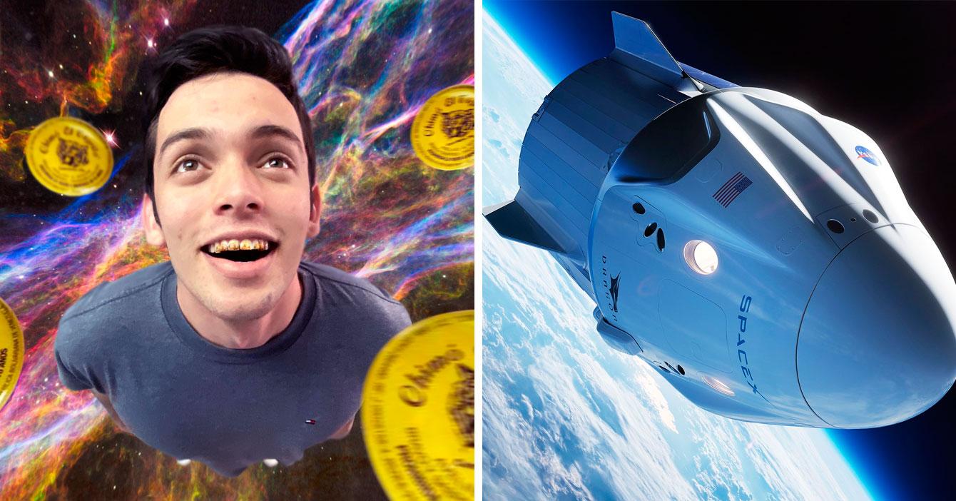 Joven descubre que es más barato viajar a órbita de la tierra tragando chimó que con cápsula de SpaceX