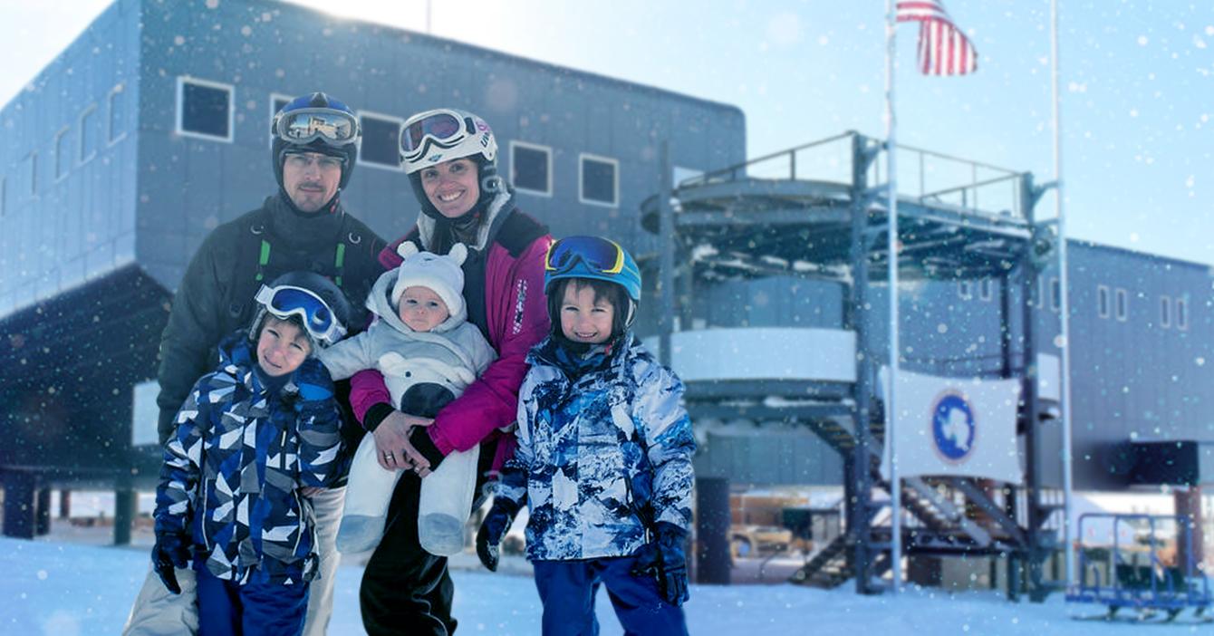 Familia venezolana viaja a la Antártida para poder pedir visa americana