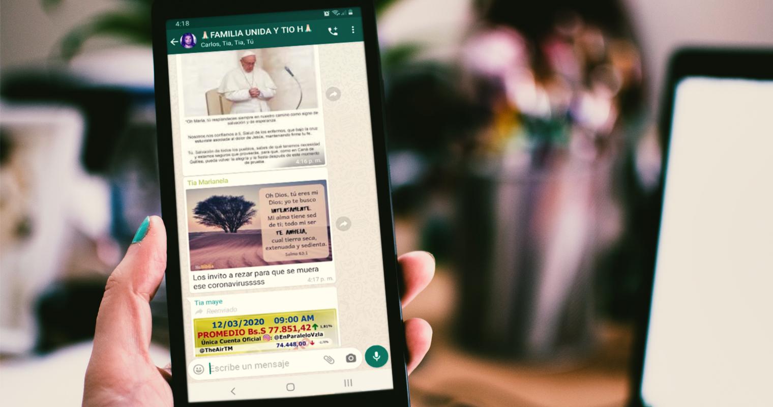 Grupo de Whatsapp de la familia descubre origen, causa, y cura del Coronavirus