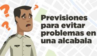 INFOGRAFÍA: Previsiones para evitar problemas en una alcabala