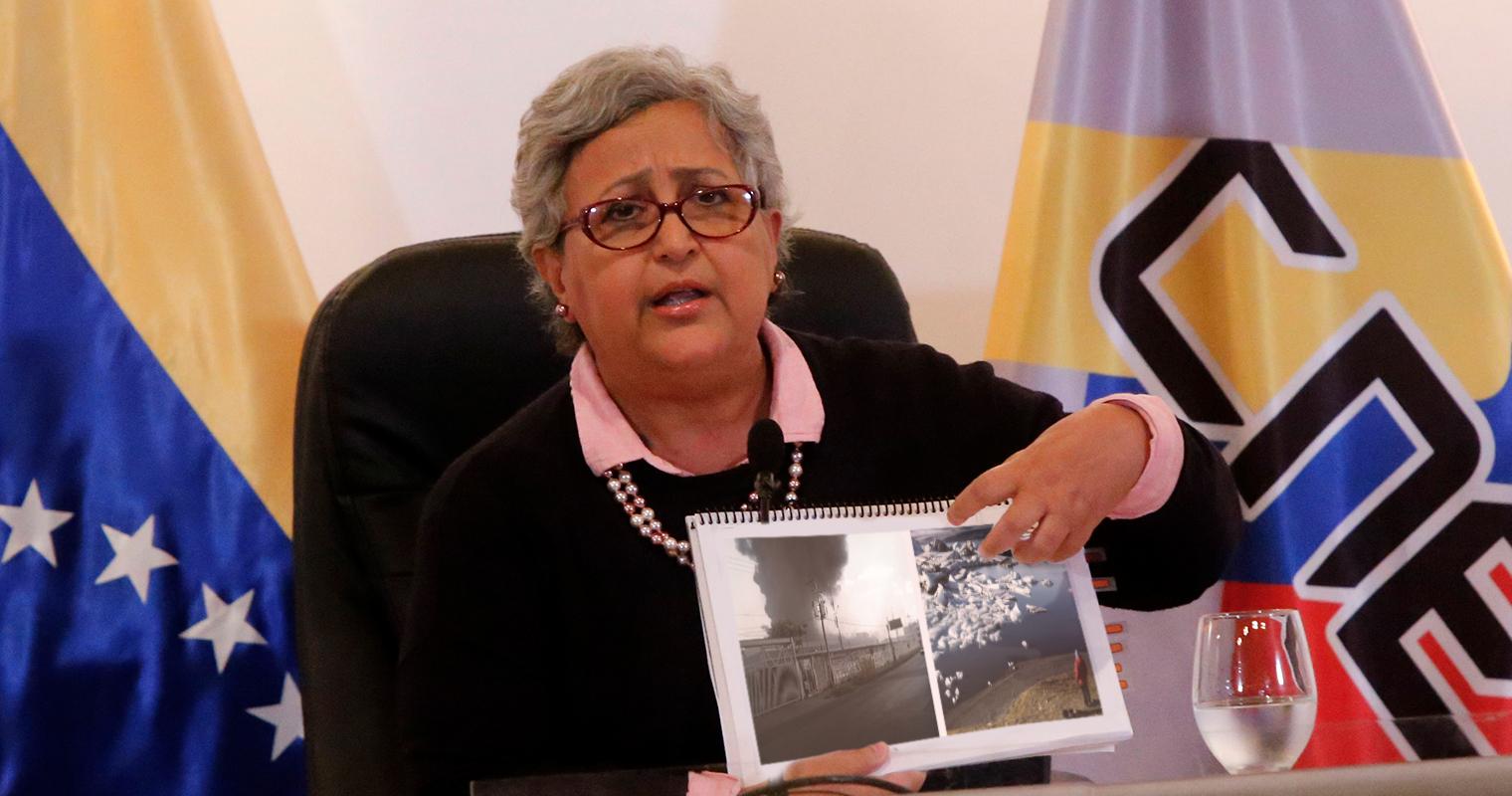 Tibisay Lucena: incendio del CNE fue a causa del cambio climático