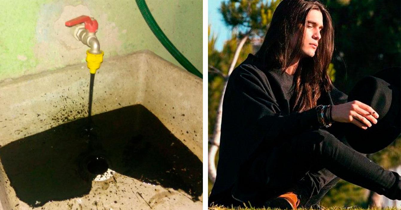 Metalero contento que agua sucia de Valencia le devolvió la vida a sus pantalones negros