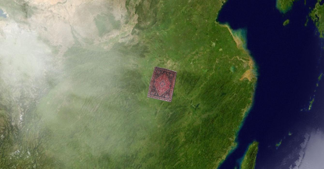 Gobierno chino barre a Wuhan debajo de una alfombra gigante para negar su existencia
