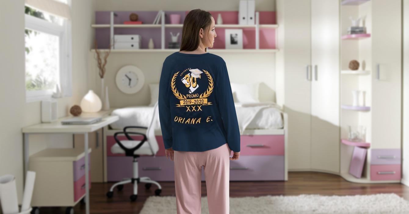 Cuarentena obliga a bachilleres a hacer pijamas de promoción
