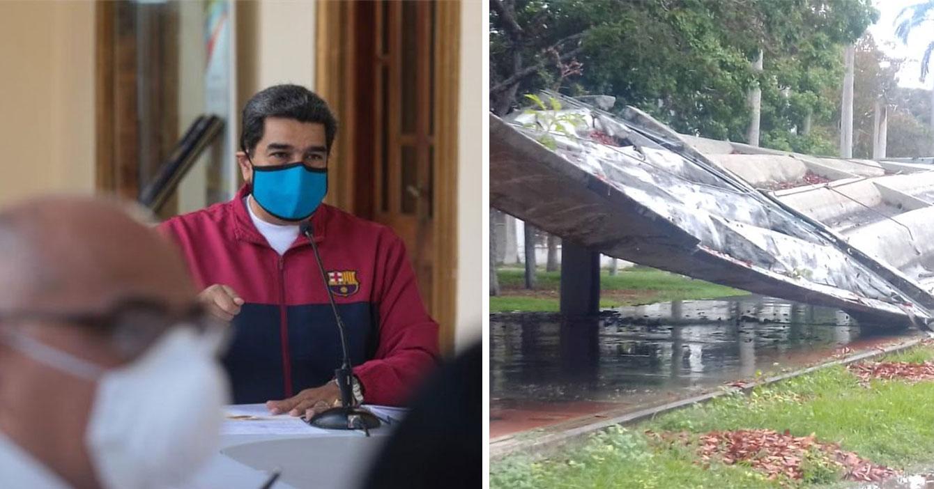 Maduro asegura que todos los casos de techos caídos de la UCV son importados