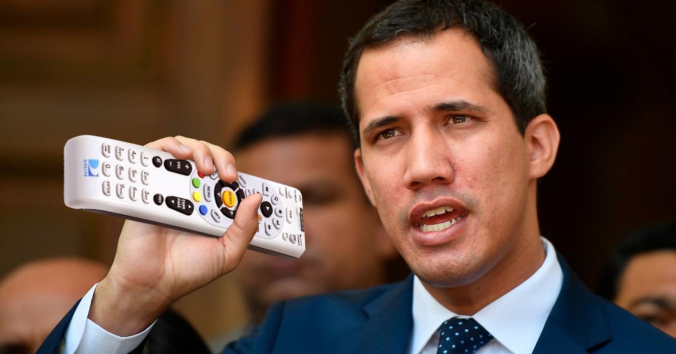Guaidó anuncia que la opción de que regrese DirecTV está sobre la mesa