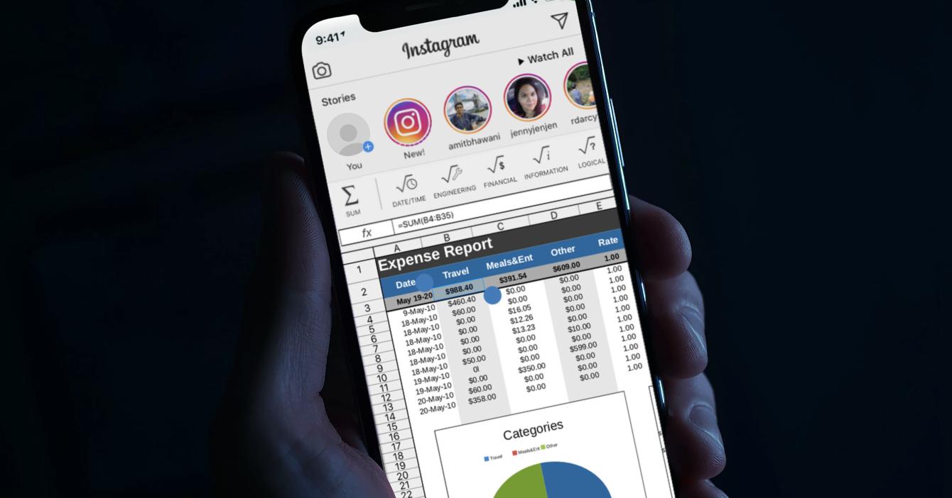 Instagram añade función de hojas de cálculo para sacar a Excel del mercado