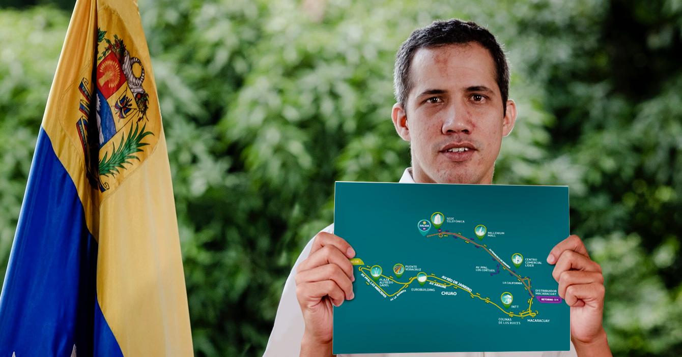 Guaidó presenta la ruta de un 10K