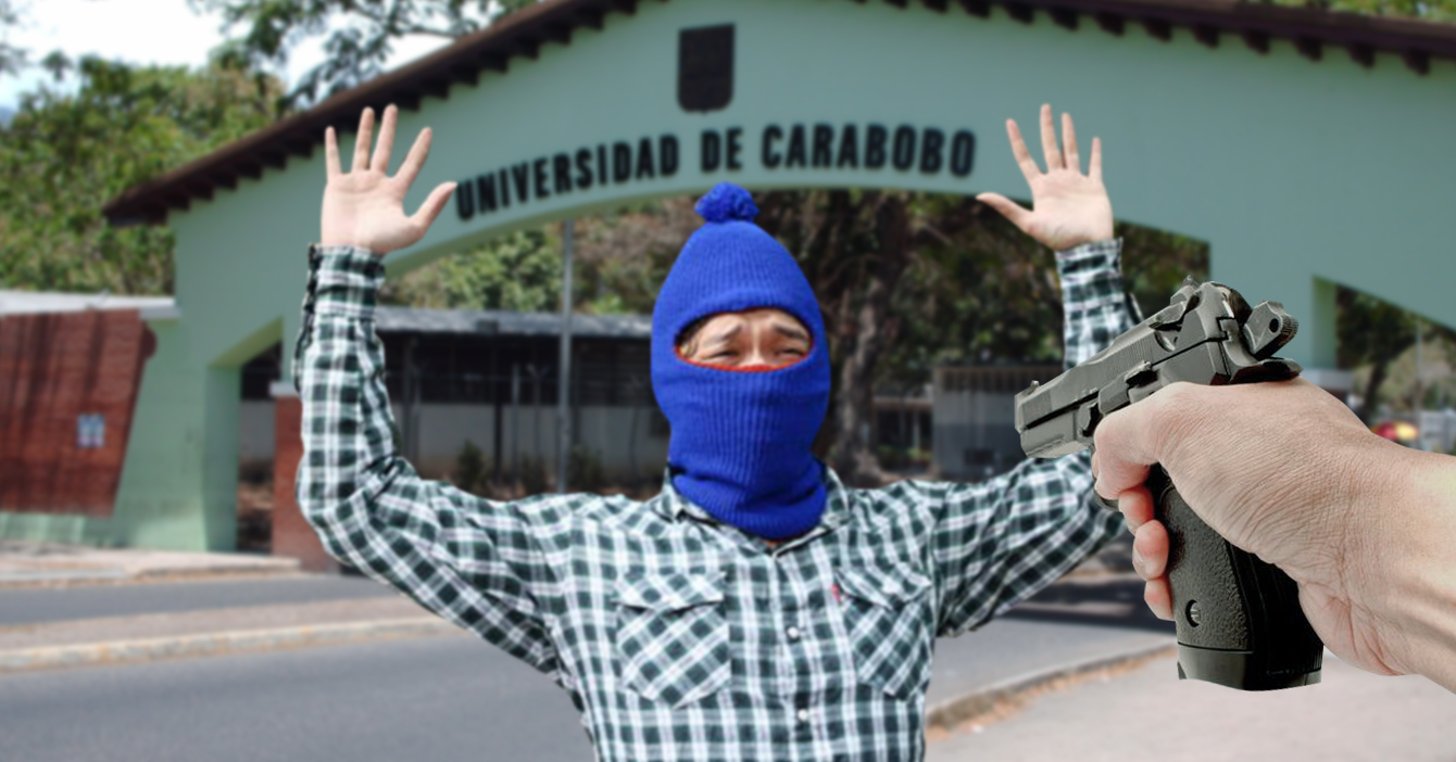 Malandros irrumpen en Universidad de Carabobo y salen atracados