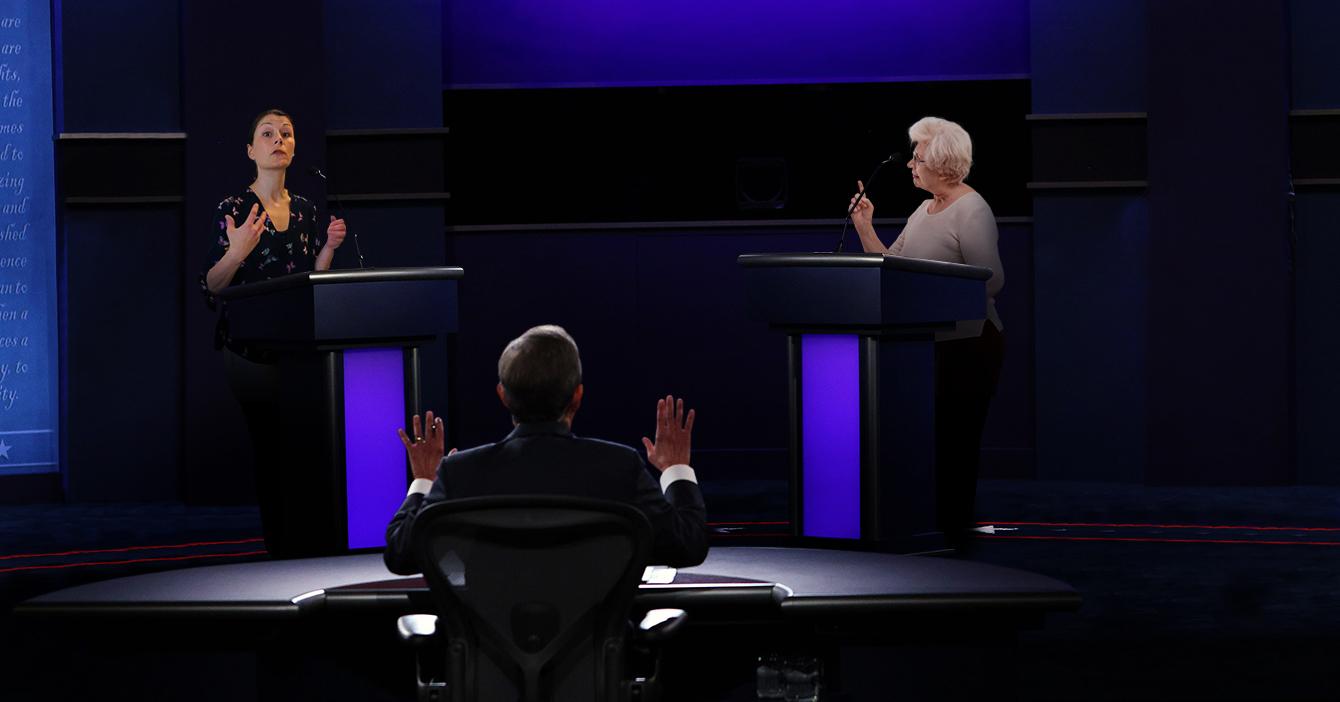 Candidatos presidenciales de EEUU serán sustituidos en próximo debate por junta de condominio de residencias Terepaima