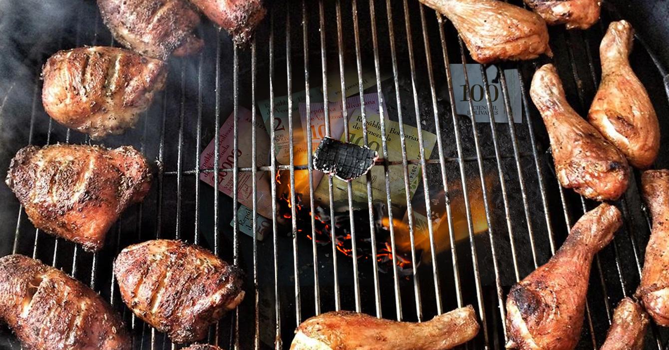 Maestro parrillero asegura que los bolívares dan un sabor ahumado divino a la carne