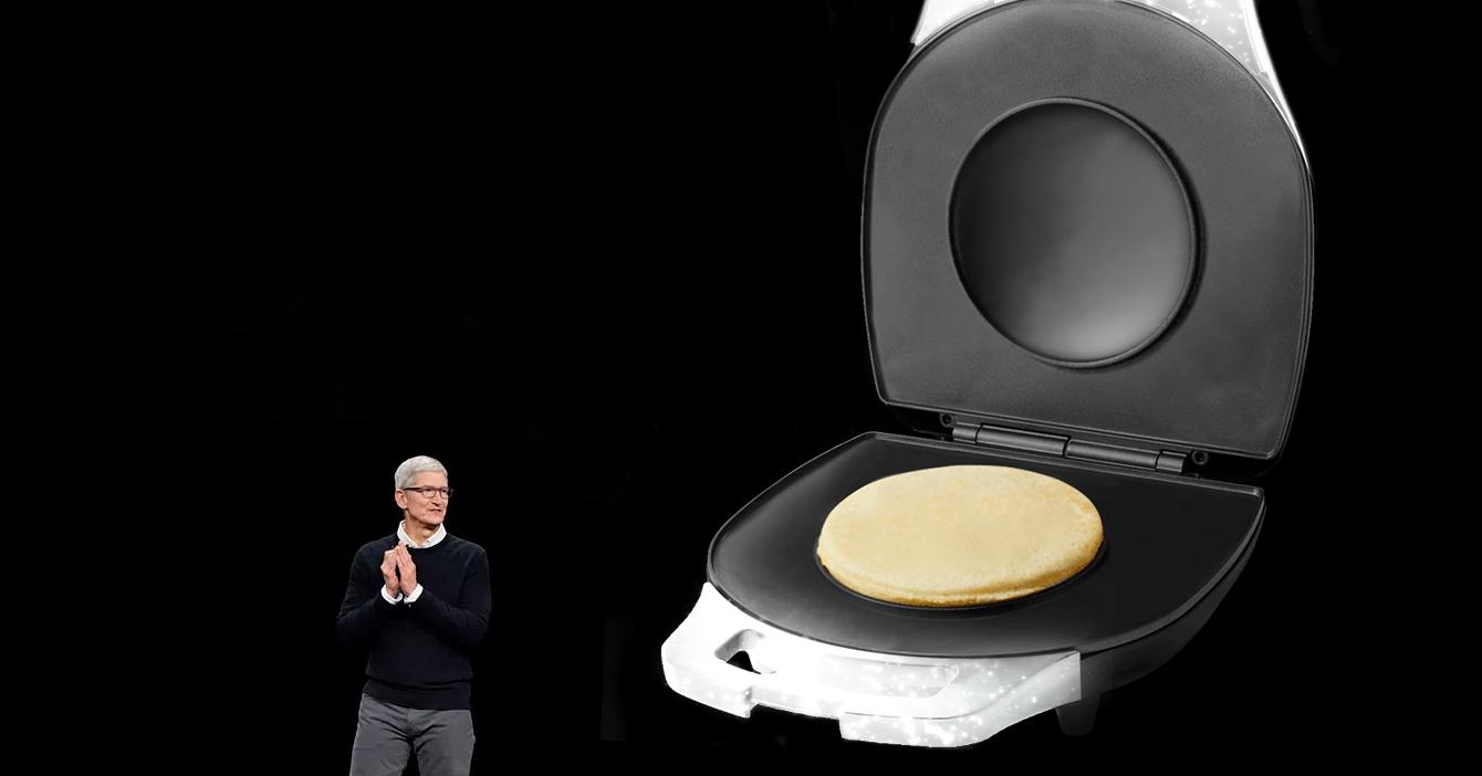 Tim Cook presenta la nueva Apple Arepa
