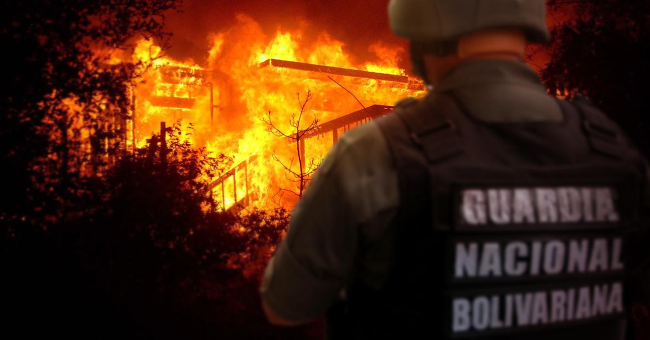 Guardia Nacional incendia casas para que la gente pueda cocinar sin gas