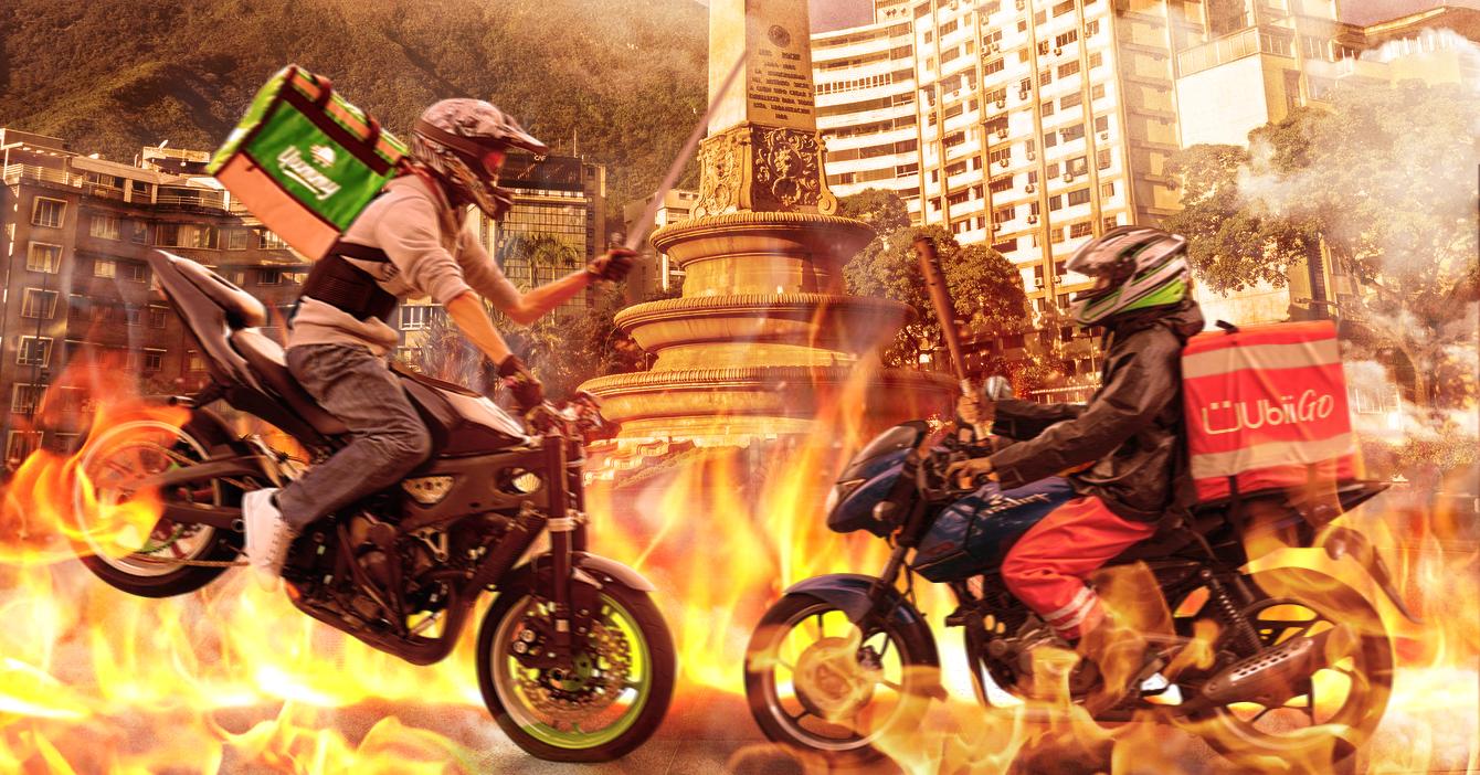 Repartidores inician guerra sangrienta por el control de la Capital