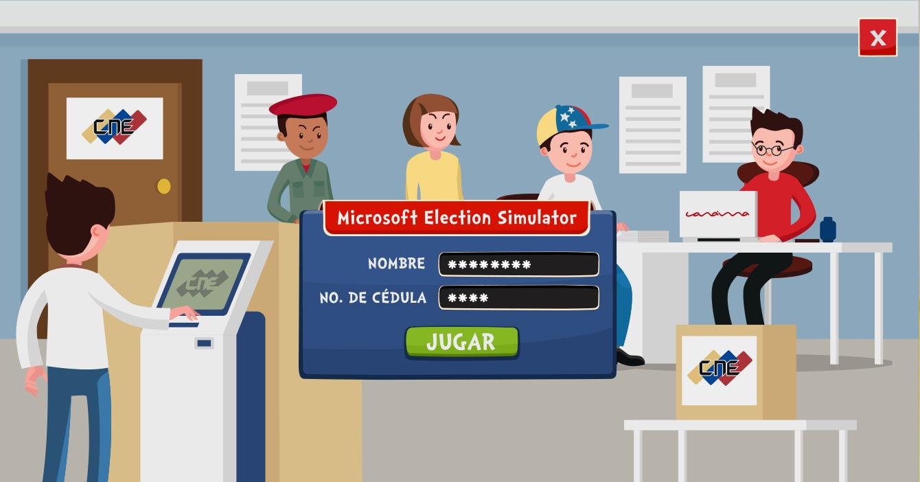 Microsoft lanza simulador de elecciones para que los venezolanos puedan drenar sus frustraciones