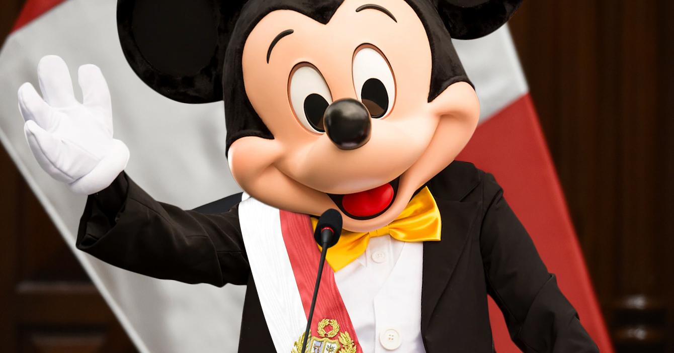 Tras llegada de Disney+ a Latinoamérica, Mickey Mouse asume presidencia de Perú