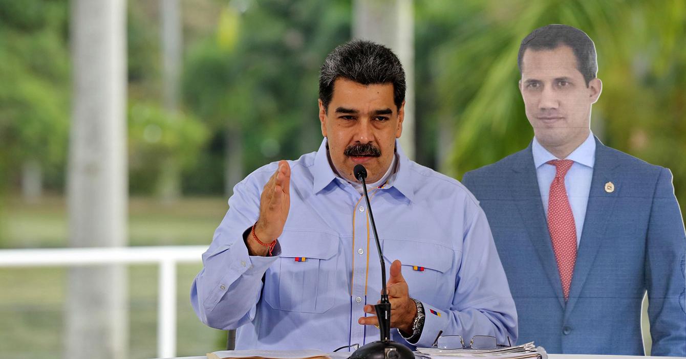 """Maduro: """"Si este Guaidó que hice con cartulina gana las elecciones, me voy"""""""