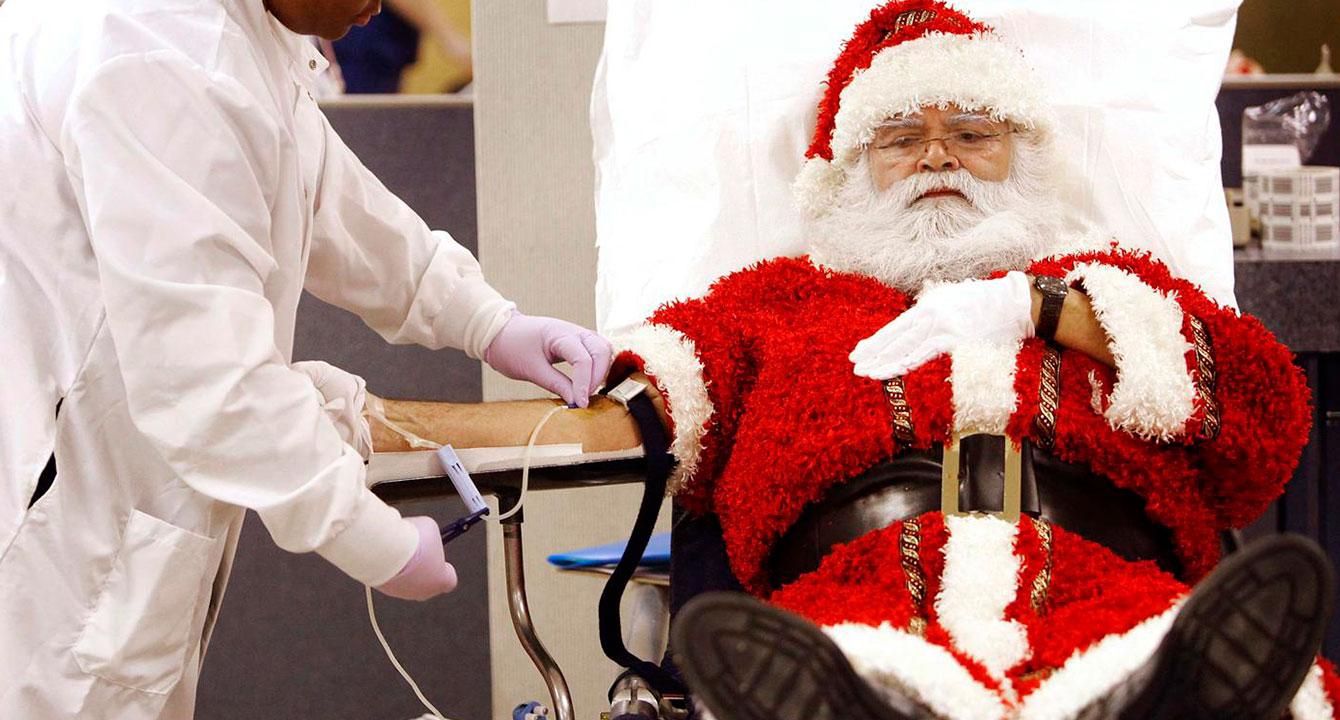 Santa hospitalizado por niño que le dejó galletas con chimó