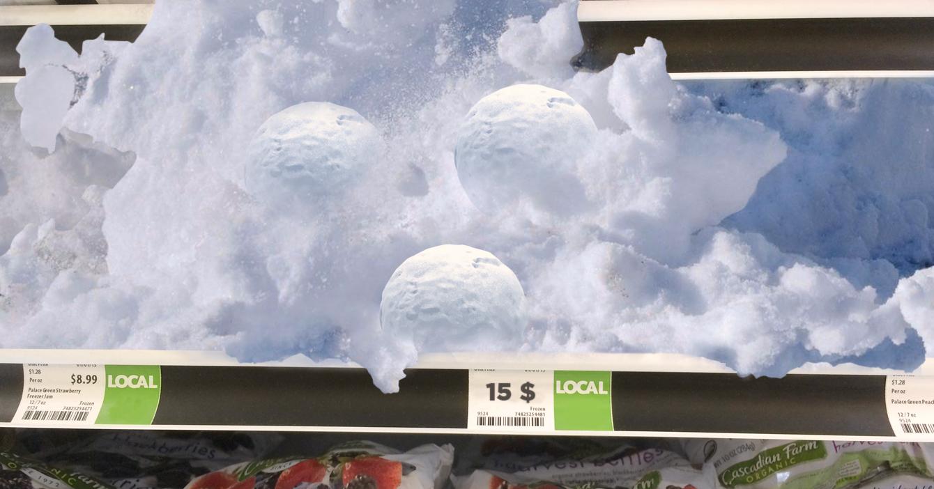 Bodegón importa nieve de Madrid a 15$ la bola