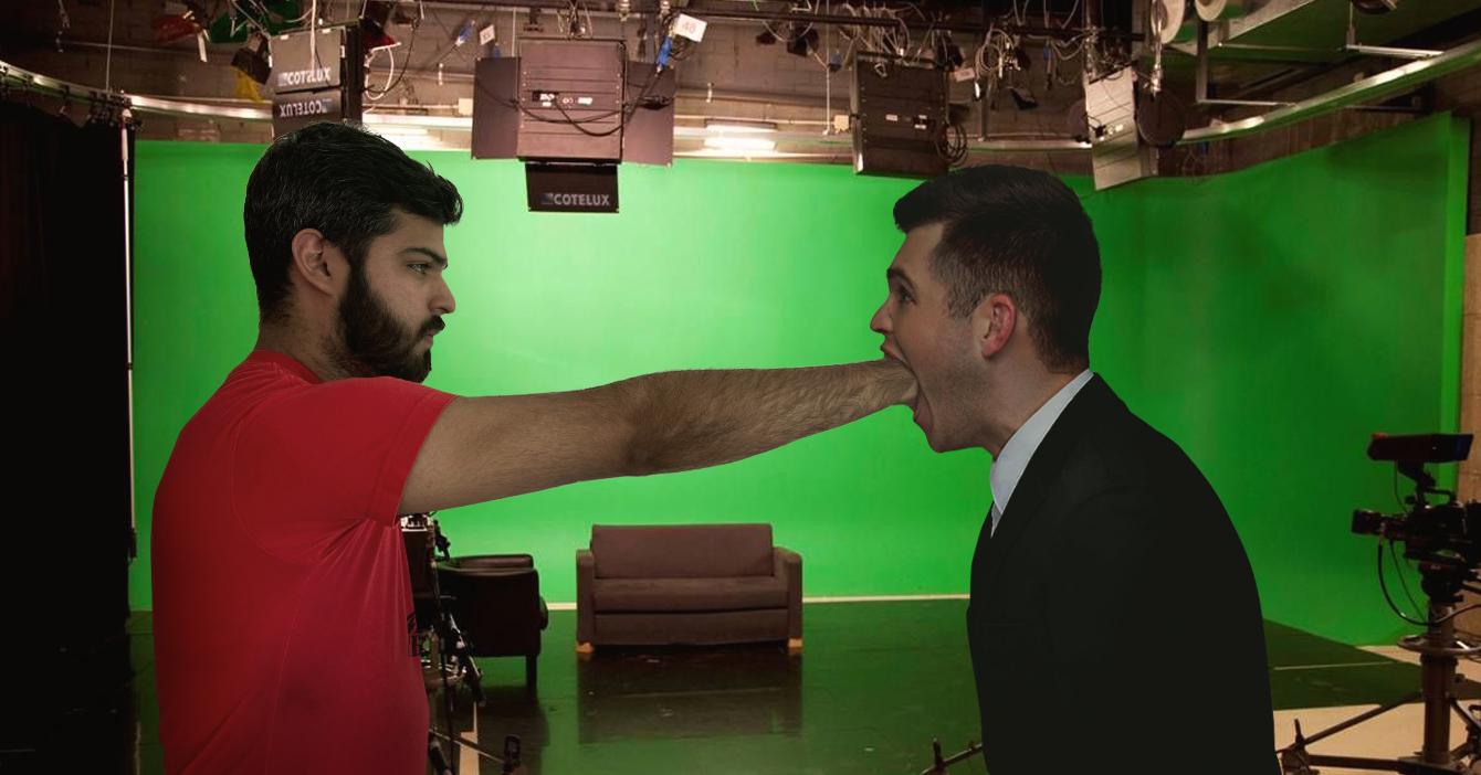 Conatel censura a periodista metiéndole el puño en la boca