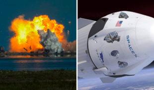 Elon Musk repara nave de SpaceX que explotó con bolsas de basuras en las ventanas