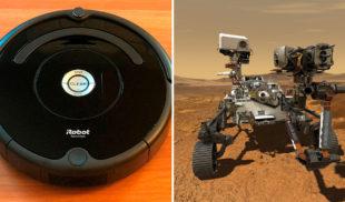 Robots aspiradora hablan paja de robot que se fue a lavar pocetas a Marte