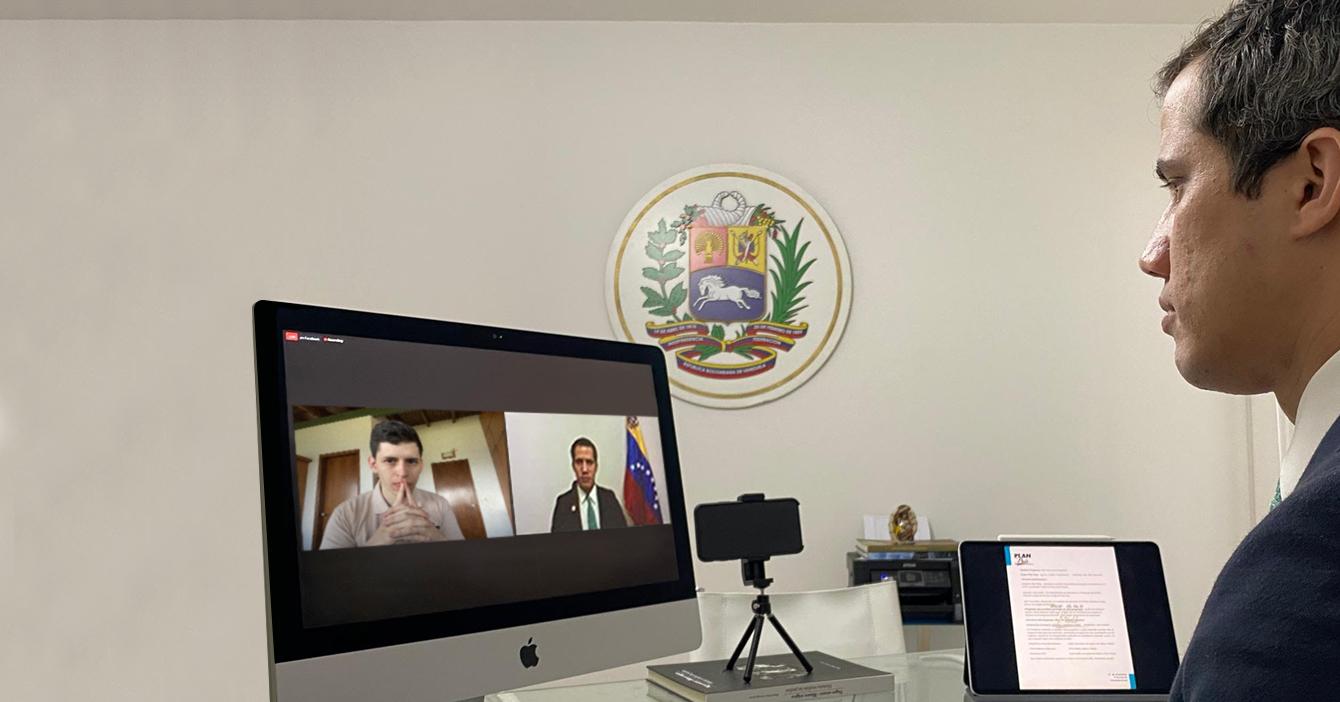 """Guaidó se reúne con el semanero de 4to. año """"B"""" del Liceo Pedro Gual"""