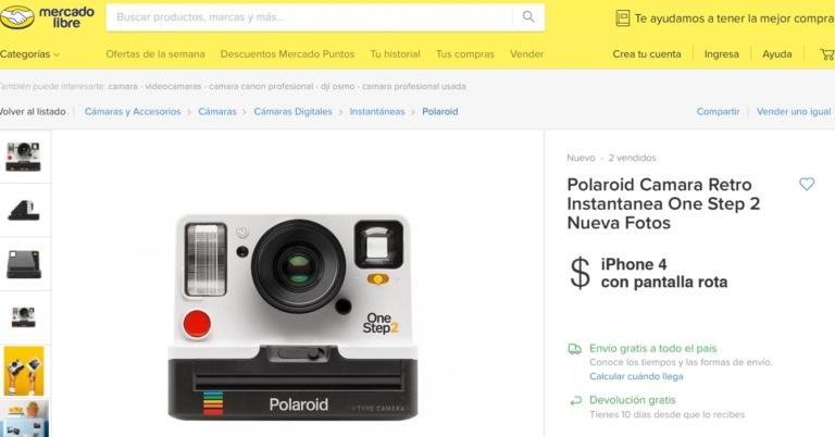 """Mercado Libre Venezuela oficializa el """"cambio por iPhone 4 con pantalla rota"""" como moneda oficial"""