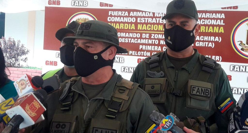 GNB envía mensaje de solidaridad a policías colombianos