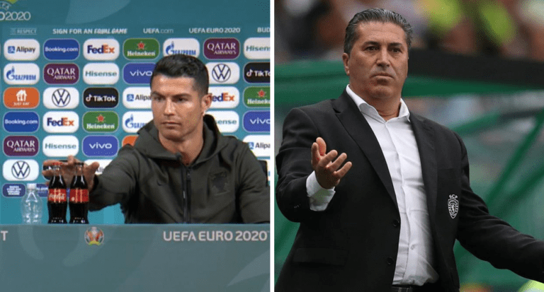 DT de la Vinotinto pregunta qué van a hacer con los refrescos que dejó Cristiano Ronaldo