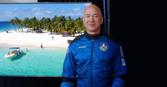 Jeff Bezos observa la Tierra desde el espacio y asegura que no hay nada como las playas venezolanas