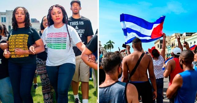 Black Lives Matter defiende a la dictadura cubana por violar derechos humanos sin discriminación racial