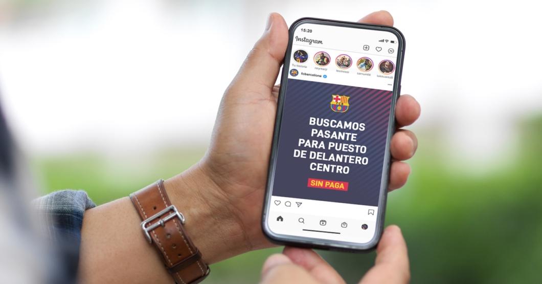 SERVICIO PÚBLICO: Barcelona busca pasante para puesto de delantero centro