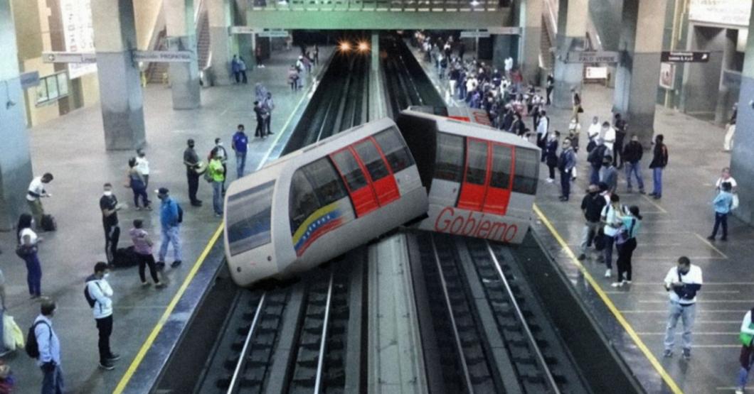 Metro de Caracas decide acabar su sufrimiento lanzándose al metro