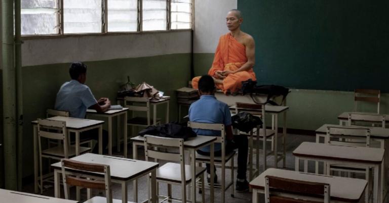 Monje budista alcanza máximo desapego con lo material haciéndose profesor en Venezuela