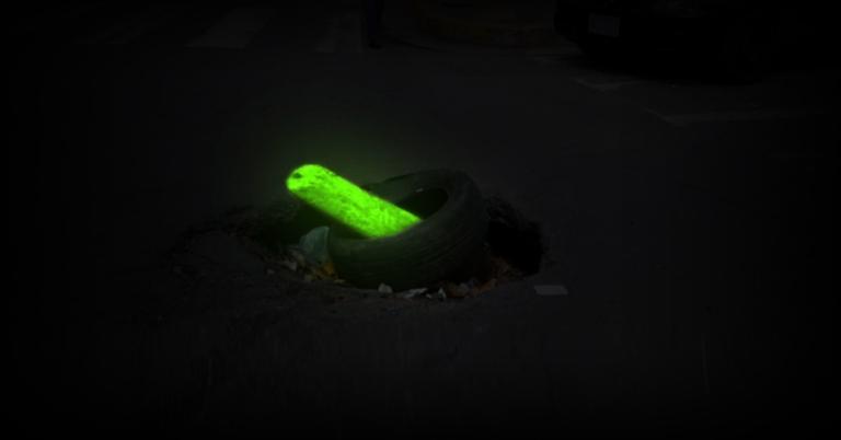 Alcaldía anuncia inversión en ramas fluorescentes para tapar huecos en la ciudad